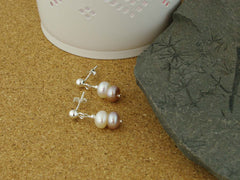 Classic Vintage Earrings - Cultured Pearl & Sterling Silver Earrings from Jewellery by Linda