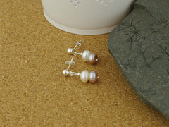 Classic Vintage Earrings - Cultured Pearl Sterling Silver Earrings from Jewellery by Linda