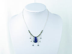 Cleo Necklace - Lapis Lazuli, Haematite on Sterling Silver