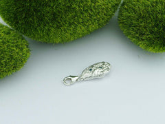 Blue Diamond Solid Silver Precious Pebble Charm
