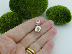 Golden Beryl Solid Sterling Silver Precious Pebble Charm