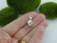 Golden Beryl Solid Sterling Silver Precious Pebble Charm reverse
