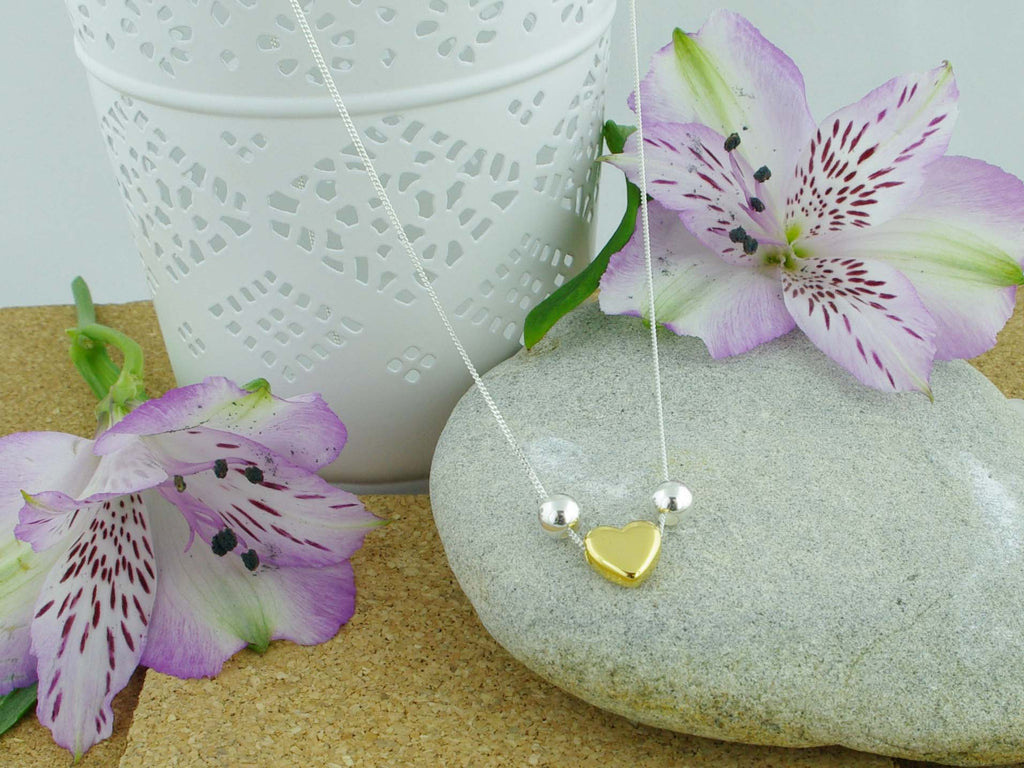Heart of Gold Jewellery by Linda Sterling Silver Necklace