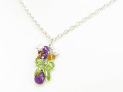 Helena Necklace - Exclusive & Handmade with Amethyst, Peridot & Citrine