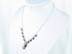 Hippolyta Necklace - Ruby, Garnet, Amethyst, White Topaz, Red Spinel & Sterling Silver