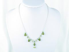 Apple Blossom Necklace - Vesuvianite, Peridot, Russian Diopside, Scapolite and Sterling Silver