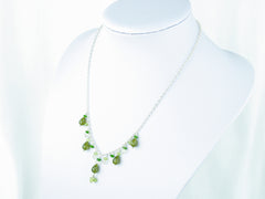 Apple Blossom Necklace - Vesuvianite, Peridot, Russian Diopside, Scapolite & Sterling Silver