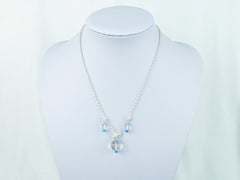 Ice Maiden Necklace - Clear Quartz, Pearl and Apatite
