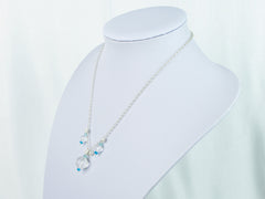 Ice Maiden Necklace - Clear Quartz, Pearls and Apatite