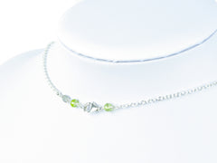 Layer Cake Necklace - Hessonite Garnet, Peridot with Sterling Silver