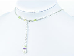 Pearl Dream Necklace - Freshwater Pearls, Amethyst, Citrine, Peridot on Sterling Silver
