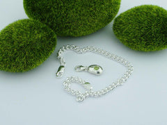Peridot Solid Sterling Precious Pebble Charm