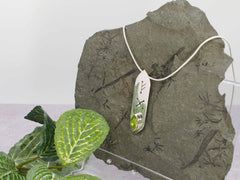 Peridot Marquise Runic Sterling Silver Pendant Necklace