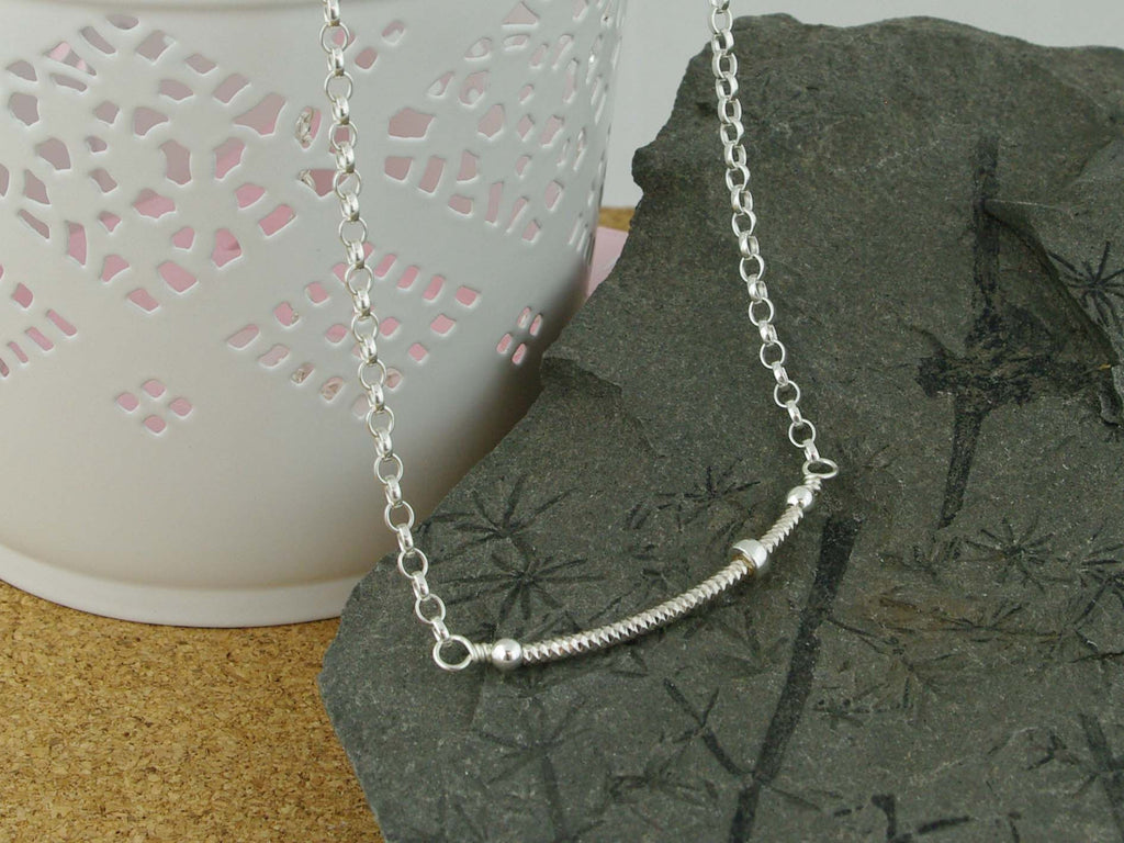 Fidget Necklace - Sterling Silver - Petite Silver Ring