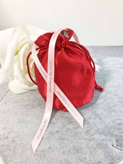 Satin pouch and ribbon Jewellery by Linda gift wrapping