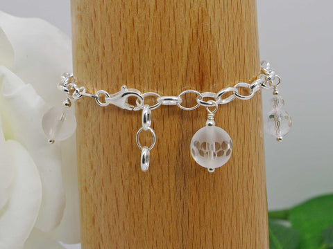 Rounds of Quartz Sterling Silver Bracelet