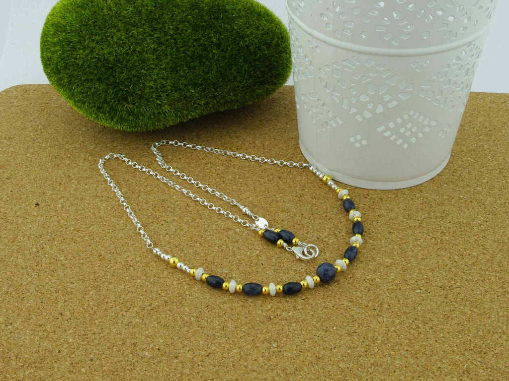 Sapphire Desire - Sapphire Sterling Silver Necklace