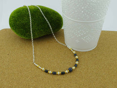 Sapphire Desire - Sapphire and Sterling Silver Necklace