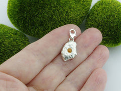 Yellow Sapphire Solid Sterling Silver Precious Pebble Charm