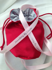 Beautiful satin pouch gift wrapping from Jewellery by Linda