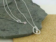 Heart within Heart Sterling Silver Charm Necklace