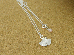Sterling Silver Ginko Necklace from Jewellery by Linda