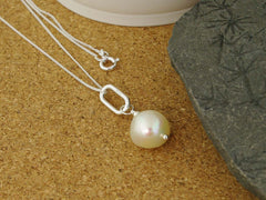 Simplicity Necklace - Cultured Pearl & Sterling Silver Necklace