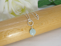 Jewellery by Linda Simply Aqua Necklace - Aquamarine on Sterling Silver