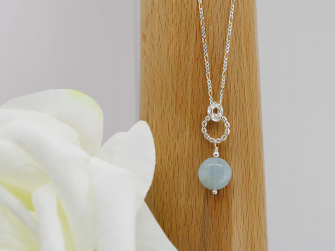 Simply Aqua Necklace - Aquamarine & Sterling Silver