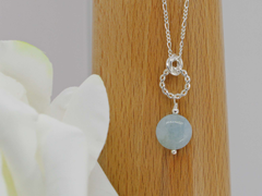 Jewellery by Linda Simply Aqua Necklace - Aquamarine with Sterling Silver