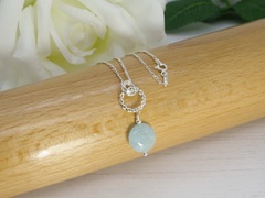 Jewellery by Linda Simply Aqua - Aquamarine and Sterling Silver Necklace