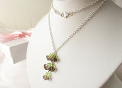 Smoking Hot Necklace - Smoky Quartz Peridot Sterling Silver