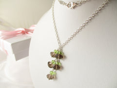 Smoking Hot Necklace - Smoky Quartz & Peridot Sterling Silver