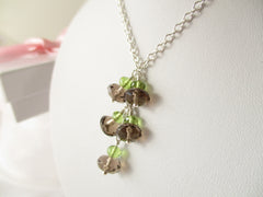 Smoking Hot Necklace - Smoky Quartz with Peridot & Sterling Silver