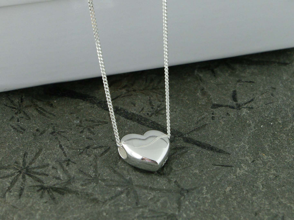 Smooth Heart Sterling Silver Jewellery by Linda Necklace