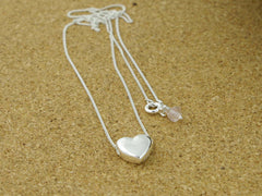 Smooth Heart Sterling Silver Necklace