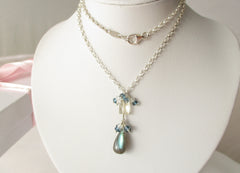 Starry Sky Necklace - Labradorite with London Blue Topaz