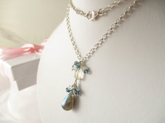 Starry Sky Necklace - Labradorite, London Blue Topaz, Scapolite & Sterling Silver