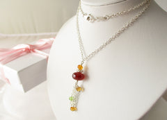 Sunset Dreams - Garnet, Peridot, Citrine, Sterling Silver