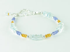 Sweet Dreams Bracelet - Aquamarine, Tanzanite, Mandarin Garnet & Sterling Silver