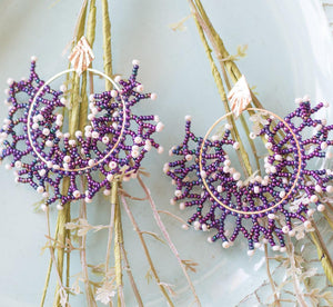 Caribbean Sea Coral earrings (click for more colors)