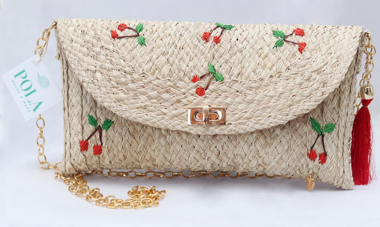 2-in-1 Cherries cross body bag and envelope bag