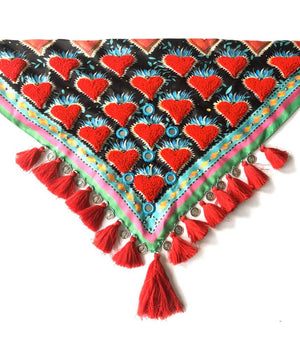 Heart scarf and mouth/nose cover