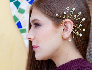 Peacock ear cuffs (click for more colors)