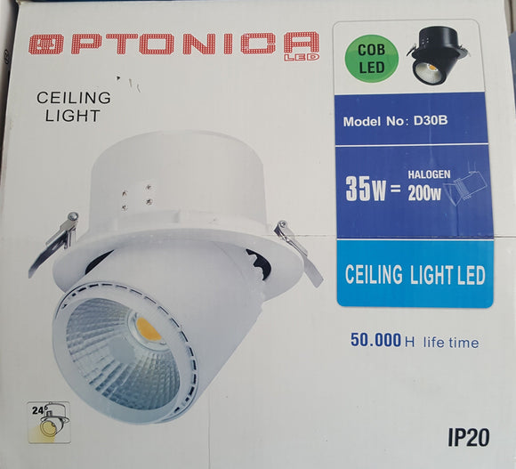 Ceiling Light Fitting 35W = 200W COB LED By Optonica - Beachcomber Lighting