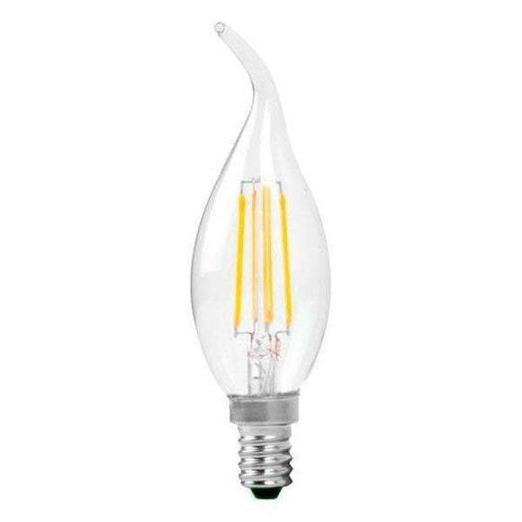 4w LED Filament Candle Bulb SES /  E14 Bent Tip