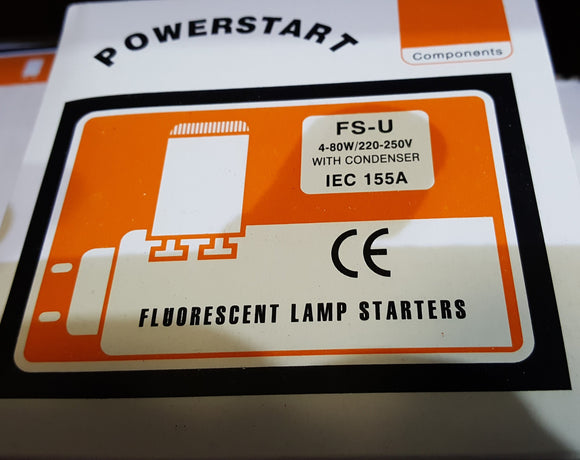 25 x Universal Starter for 4w to 65w and 80w Fluorescent Tubes - Beachcomber Lighting