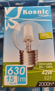 GOLFBALL HALOGEN 42W CLEAR ES / E27 CAP