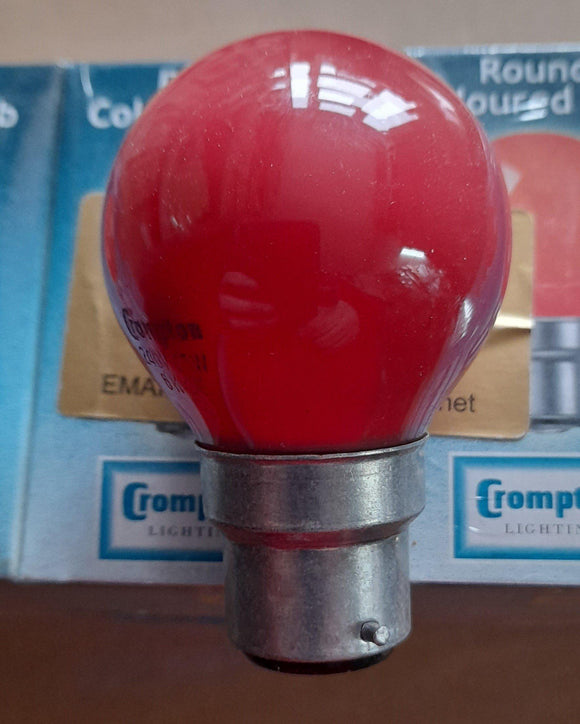 TEN X GOLFBALL RED 25WATTS BC / B22 BY CROMPTON