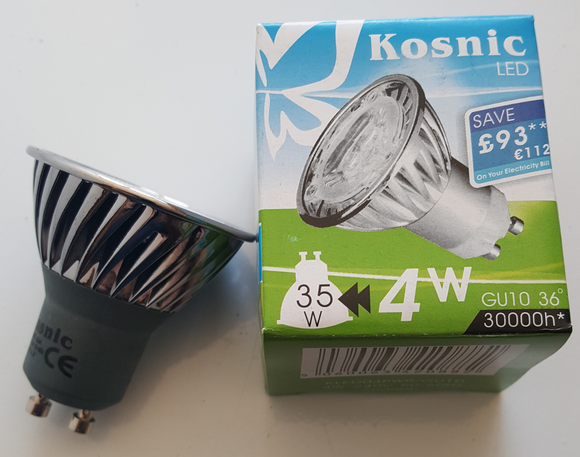 Kosnic GU10 4W Cool White - Beachcomber Lighting